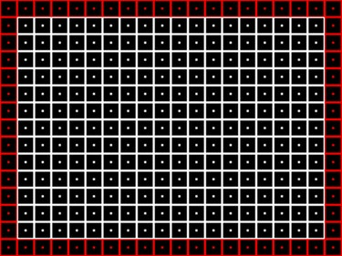 Grid TV pattern.