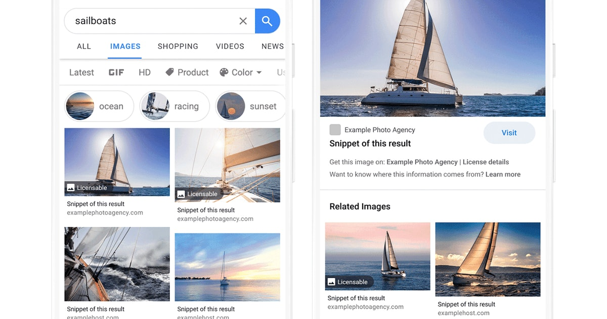 Google Images now includes licensing info so you don't steal pics