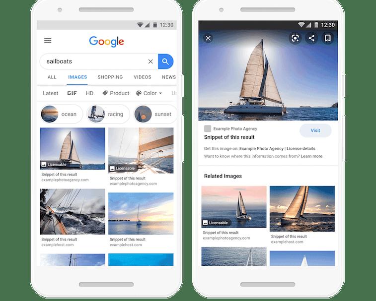 Google Image Search results demo