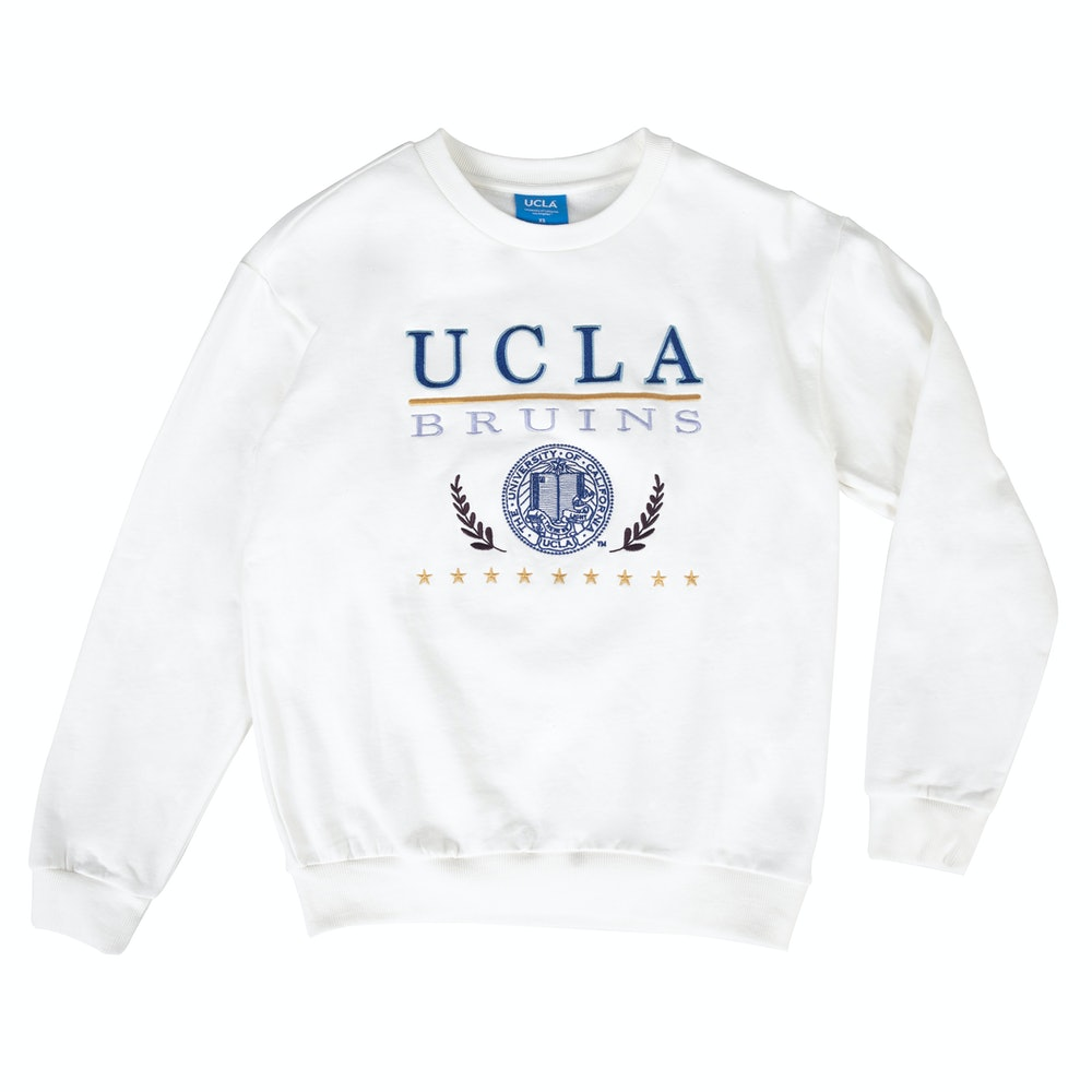 UCLA VINTAGE PUFF SWEATER OFF WHITE