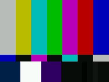 SMPTE color bars TV pattern.