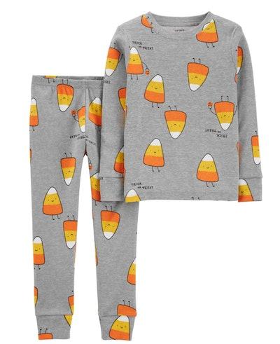 2-Piece Halloween Candy Corn Snug Fit Cotton PJs