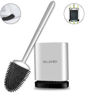 Sellemer Bathroom Toilet Brush and Holder Set