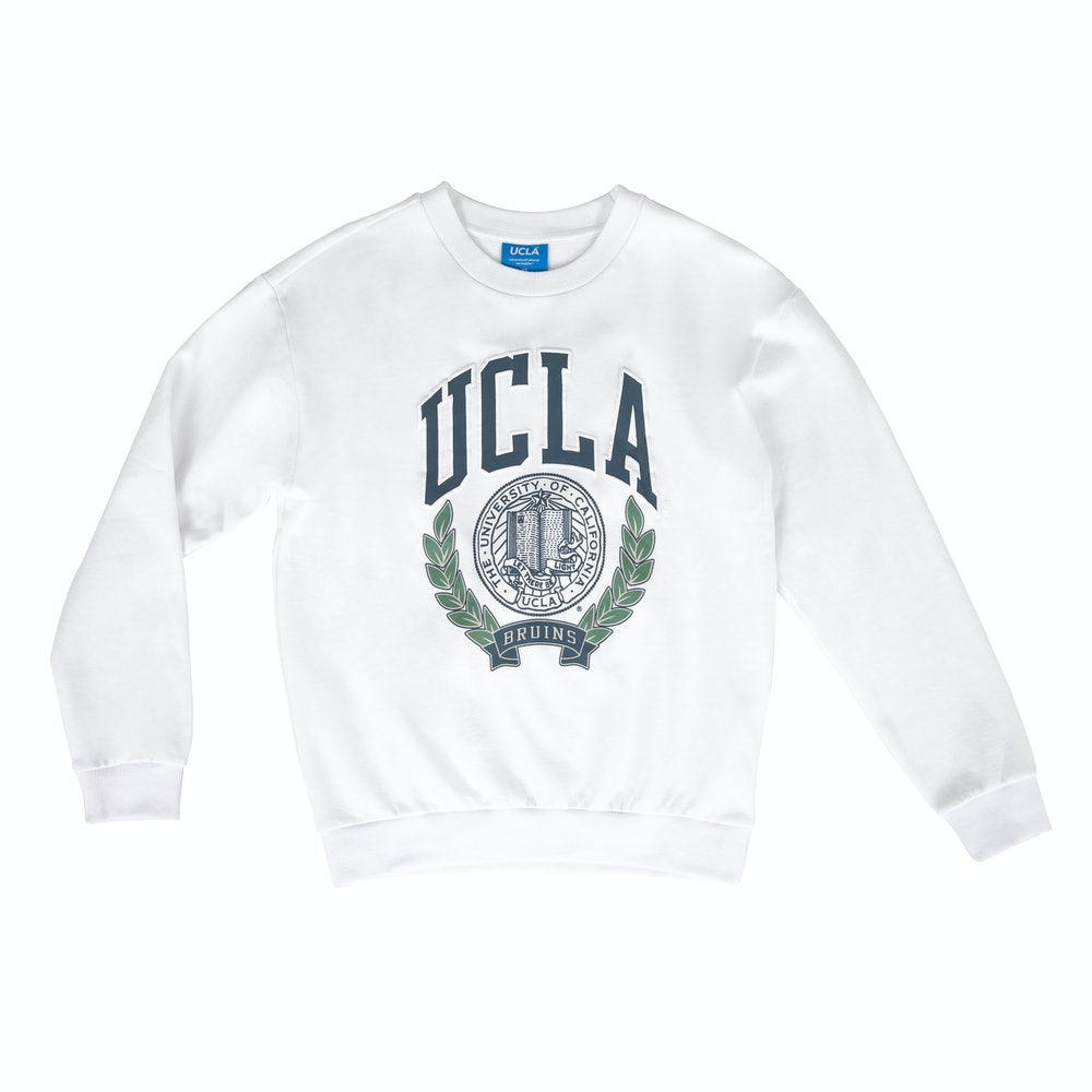UCLA VINTAGE PUFF SWEATER WHITE