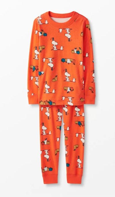 Peanuts Long John Pajamas In Organic Cotton