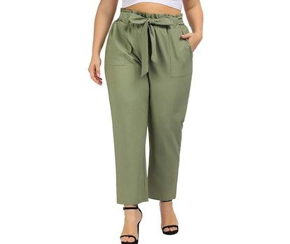 Hanna Nikole Plus Size Cropped Pants