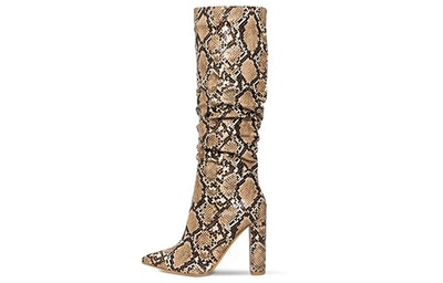wetkiss Snakeskin Slouch Boots