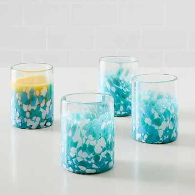 Mexican Confetti Double Old Fashioned Glasses (Set of 4)