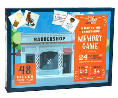 A Day at the Barbershop Memory Game
