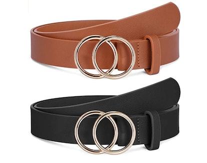 SANSTHS O-Ring Buckle Belts (2-Pack)