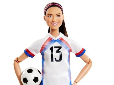 The Alex Morgan Barbie is now available as part of the Role Model Series, showcasing empowering women.