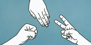The best rock-paper-scissors players know how to win without luck