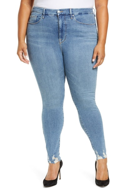 Good Legs High Waist Raw Hem Skinny Jeans