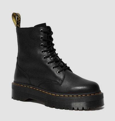 Jaden Pisa Leather Platform Boots