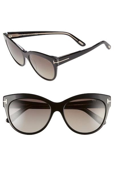 'Lily' 56mm Polarized Cat Eye Sunglasses