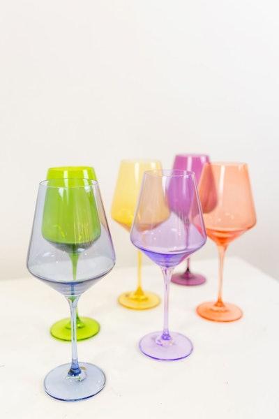 Estelle Colored Wine Stemware - Set of 6