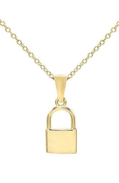 Mini Lock Pendant Necklace