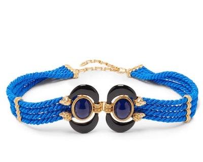 Aries Cabochon-Embellished Rope Belt