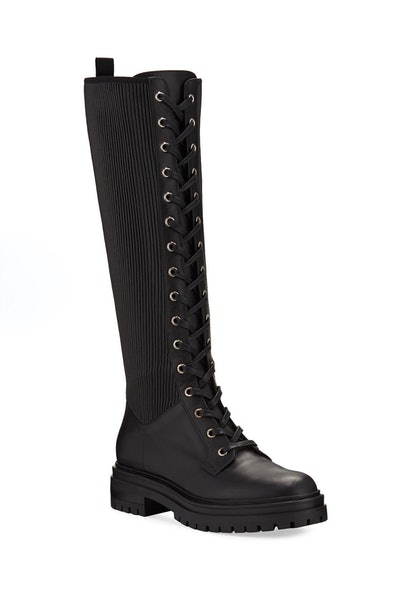 Lace-Up Combat Knee Boots