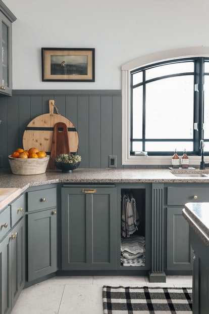 Refresh your kitchen for summer with new tea towels and warm wood