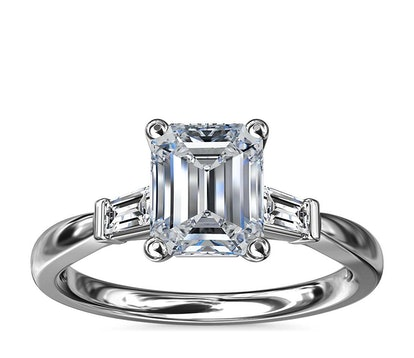 Tapered Baguette Diamond Engagement Ring
