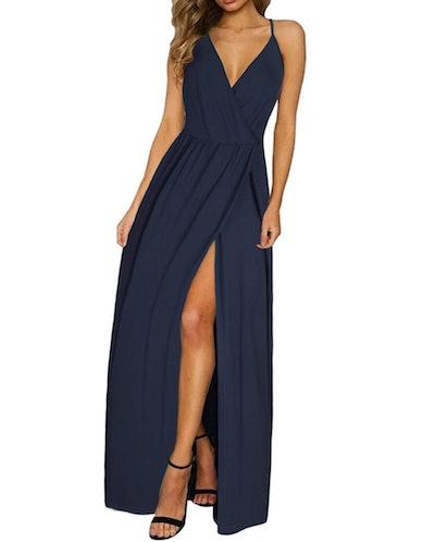 ININ Women's Deep V-Neck Maxi Dress