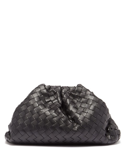 The Pouch Intrecciato Leather Clutch Bag