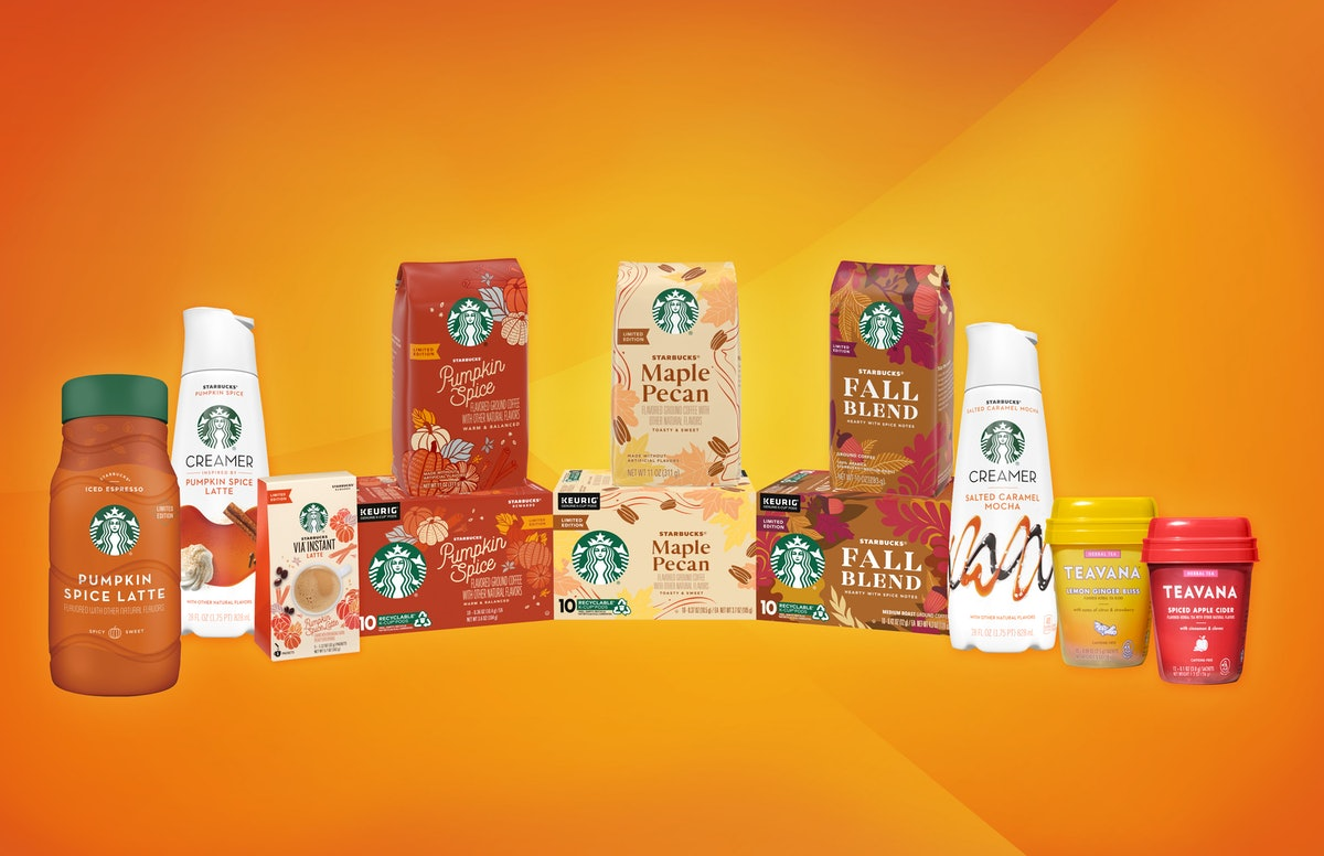 Starbucks' at-home fall 2020 products include a sweet and salty creamer.