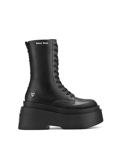 Jupiter Black Leather Boots
