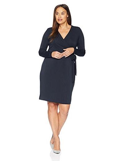 Lark & Ro Plus Size Signature Long Sleeve Wrap Dress