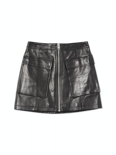 Phantom Leather Mini Skirt