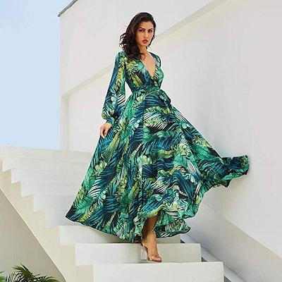 R.Vivimos Women's Chiffon Maxi Dresses
