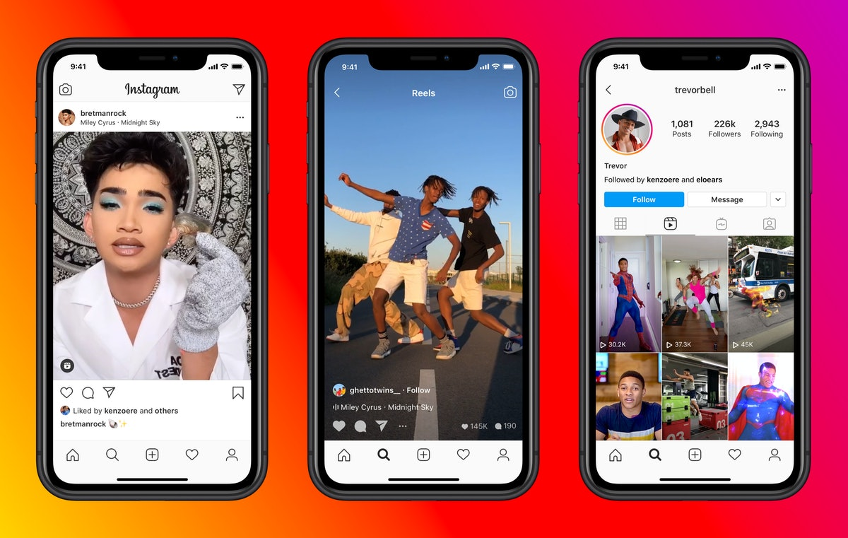 Reels on Instagram allows you to create and edit your videos within the app.