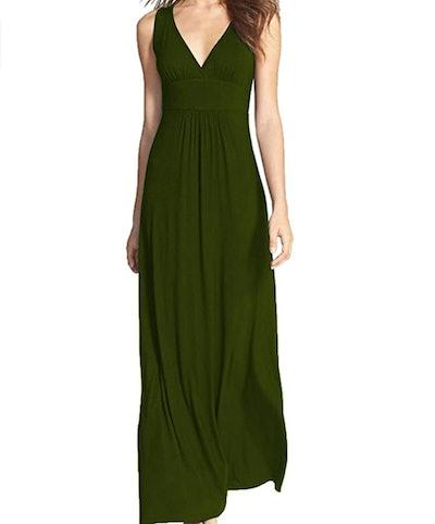 WOOSEA Women Sleeveless Long Maxi Dress