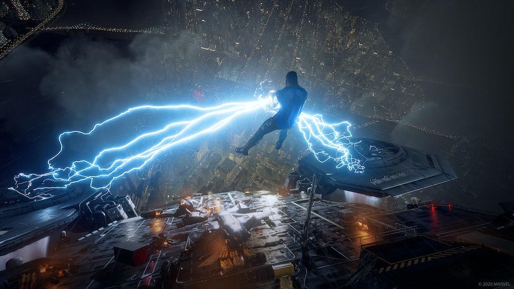 marvel's avengers thor lightning square enix