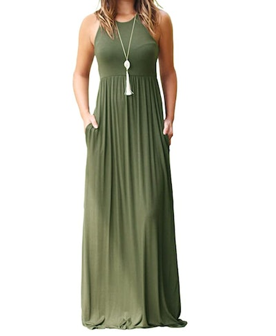 GRECERELLE Women's Long Dresses with Pockets