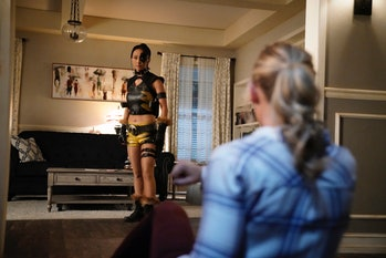 """Tigress (Joy Osmanski) and Courtney's mom (Amy Smart) in the 'Stargirl' episode """"Stars and S.T.R.I.P.E. Part One."""""""