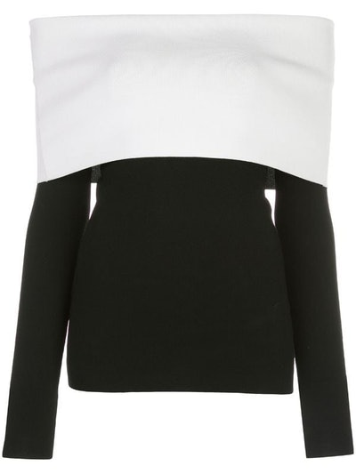 Two-Tone Off-The-Shoulder Top