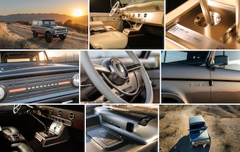 A collage of pictures of the Zero Labs Ford Bronco