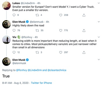 Elon Musk's suggestion.