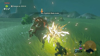 zelda breath of the wild weapon break
