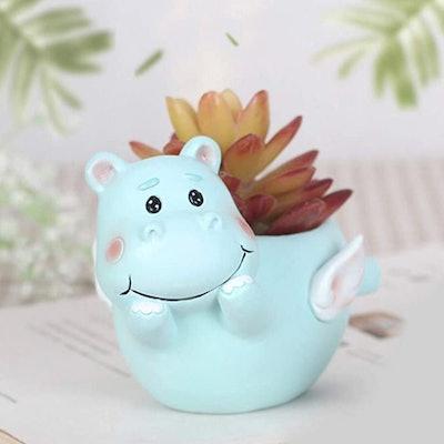 Cute Shy Hippo Succulent Pots