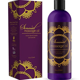 Maple Holistics Sensual Massage Oil with Relaxing Lavender Almond Oil and Jojoba