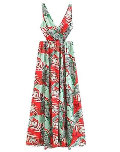 Floerns Women Sleeveless Maxi Dress