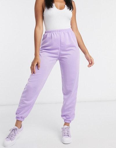 ASOS DESIGN lounge jogger in lilac