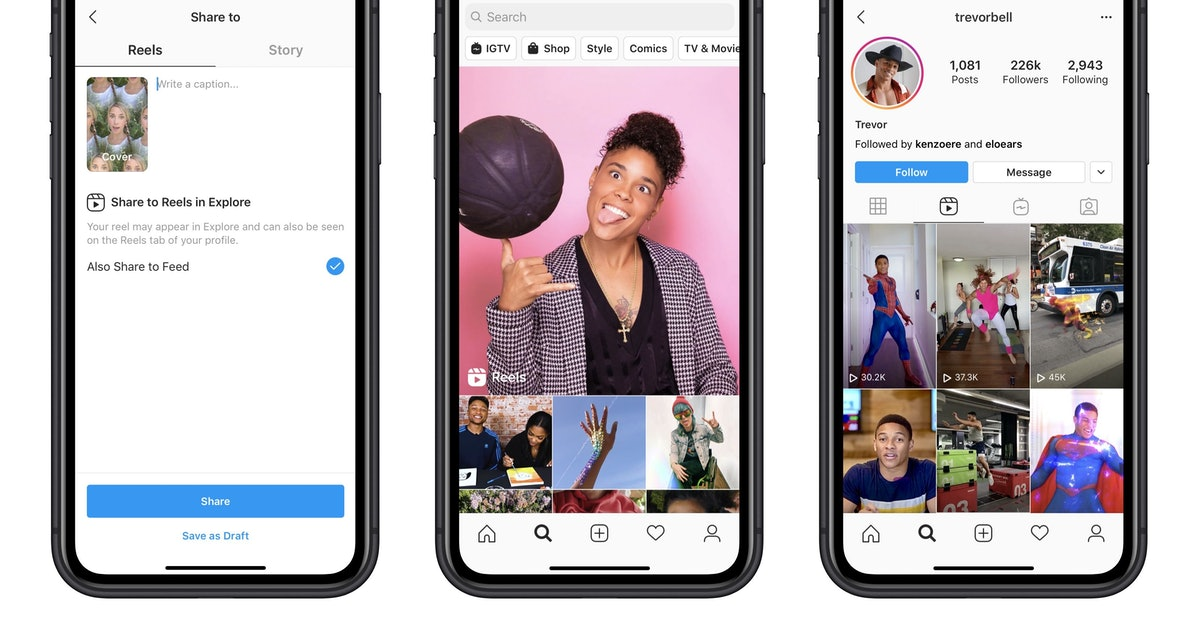 Here's Where To Find Instagram's New Reels Feature That'll Remind You So Much Of TikTok