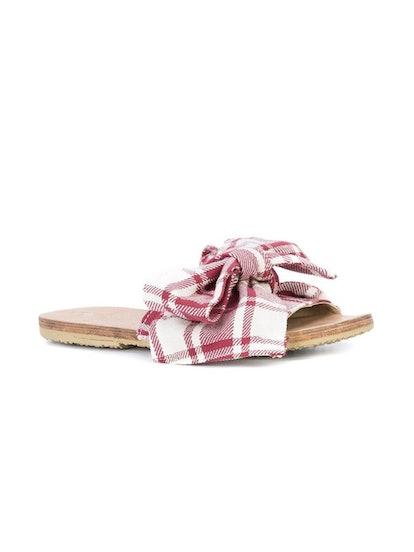 Burkina Striped Sandal Red/ White