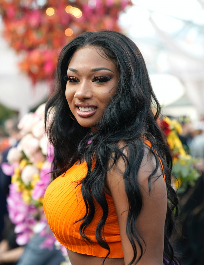 Megan Thee Stallion attends 2020 Roc Nation THE BRUNCH on January 25, 2020 in Los Angeles, Californi...