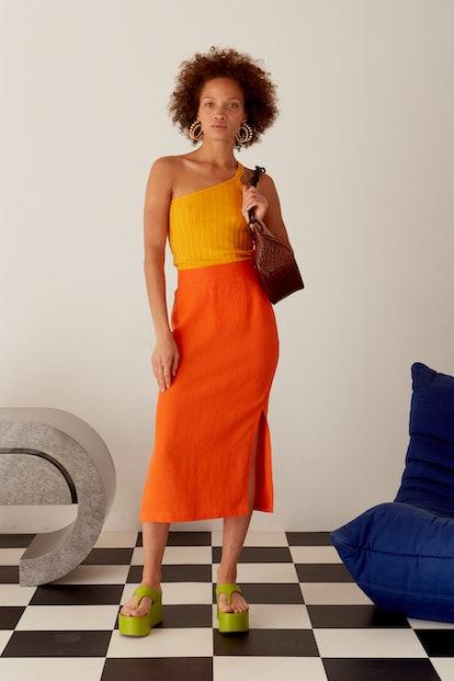 Prado Skirt Tangerine