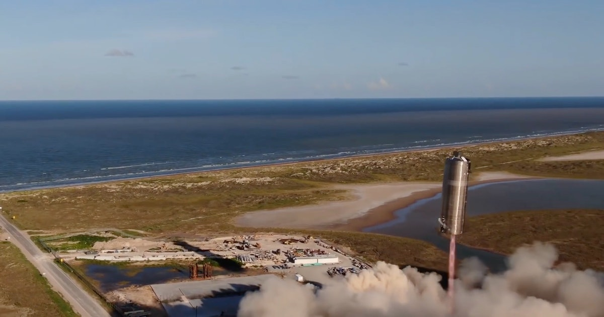SpaceX Starship: incredible video shows prototype soaring in first flight